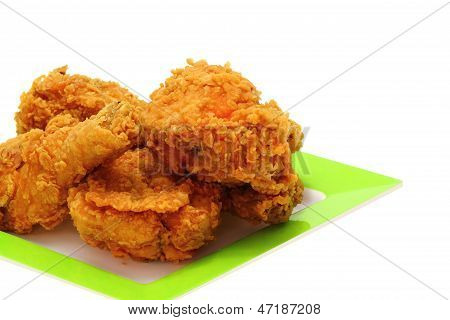 Gold gebratenes Huhn