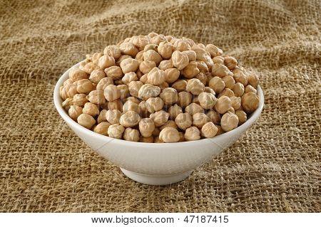 Garbanzo Bean On Bowl