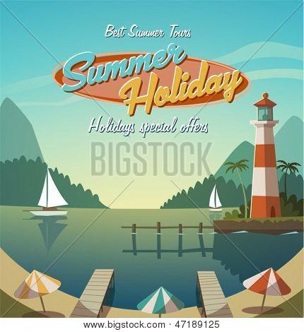 Vacaciones de verano. Fundamento retro