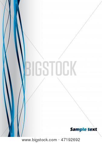 Líneas azules de la onda