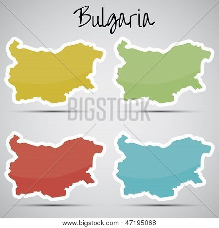 stickers in form of Bulgaria