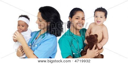 Two Pediatricians With Beautiful Babies