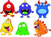 stock photo of monster symbol  - Vector illustration of Monster cartoon collection isolated on white background - JPG