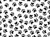 stock photo of spank  - seamless illustration of wildcat foils over black - JPG