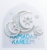 picture of ramadan mubarak card  - ramadan background greeting card  - JPG