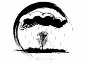 Grunge Weather Icon poster