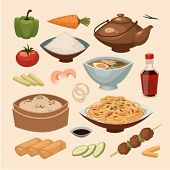 stock photo of rice noodles  - Chinese food - JPG