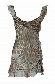 picture of peignoir  - leopard peignoir - JPG