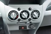 pic of gear-shifter  - manual air conditioning in low cost car - JPG