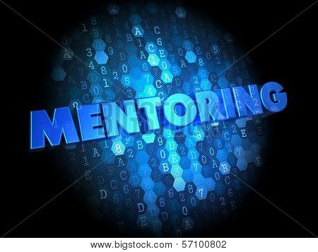 Mentoring on Dark Digital Background.
