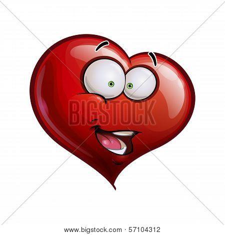 Heart Faces Happy Emoticons - Hi