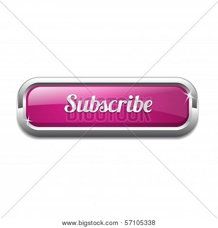 Subscribe Rectangular Shiny Button