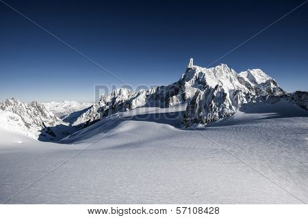 Mont Blanc view from courmayeur