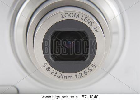 Silver Camera Lens Front Shot Macro Shuting
