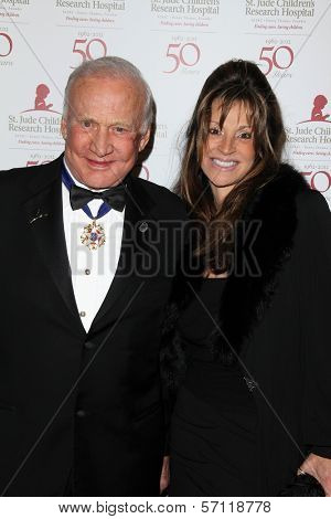 Buzz Aldrin and guest at the St. Jude Children's Research Hospital 50th Anniversary Gala, Beverly Hilton, Beverly Hills, CA 01-07-12