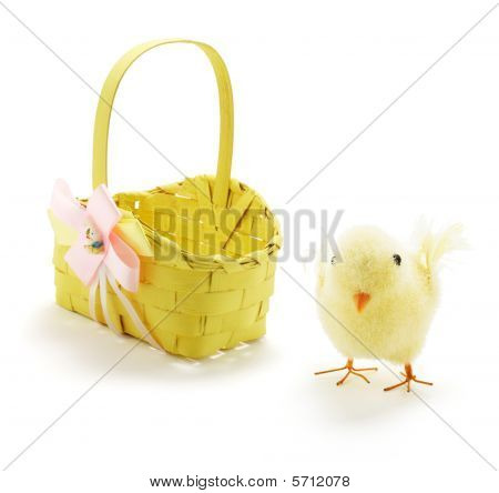 Easter Chicken And Basket