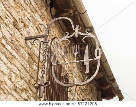 Iron Restaurant Sign