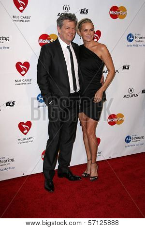 David Foster and Yolanda Hadid at the MusiCares Tribute To Barbra Streisand, Los Angeles Convention Center, Los Angeles, CA. 02-11-11
