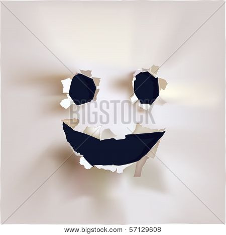 Paper collection ripped paper design Smile