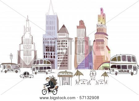 Town illustration