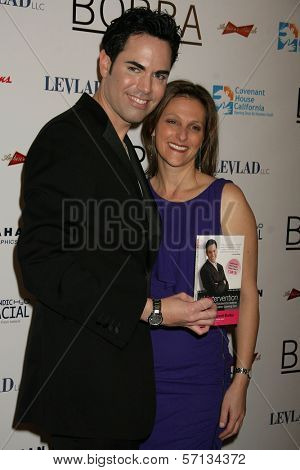 Scott-Vincent Borba and Debbie Appel at the Book Launch Party For Scott-Vincent Borba's