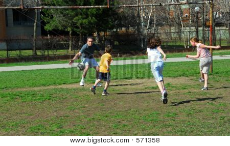 Family Soccer Game