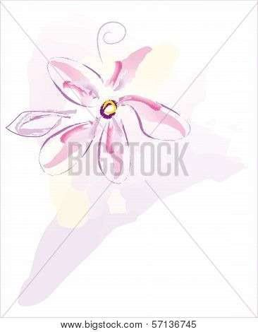 Abstract flower vector EPS10