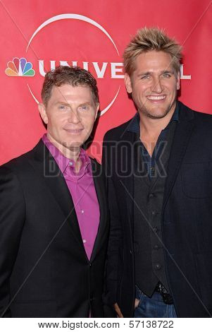 Bobby Flay and Curtis Stone at the NBC Universal  Press Tour All-Star Party, Langham Huntington Hotel, Pasadena, CA. 01-13-11