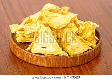 Dehydrated Pineapple On Wood