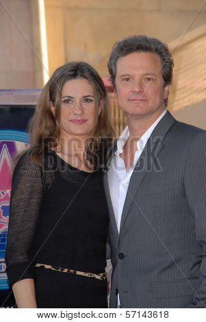 Colin Firth and wife Livia Giuggioli at the indiction ceremony for Colin Firth into the Hollywood Walk of Fame, Hollywood, CA. 01-13-11