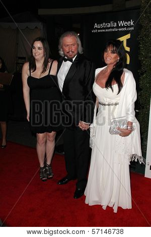 Barry Gibb and family at the G'Day USA Australia Week 2011 Black Tie Gala, Hollywood Palladium, Hollywood, CA. 01-22-1