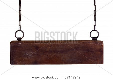 Wooden Plate On Chains