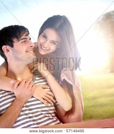 Couple Having Fun In The Park