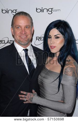 Jesse James, Kat Von D at the 2011 Art Of Elysium