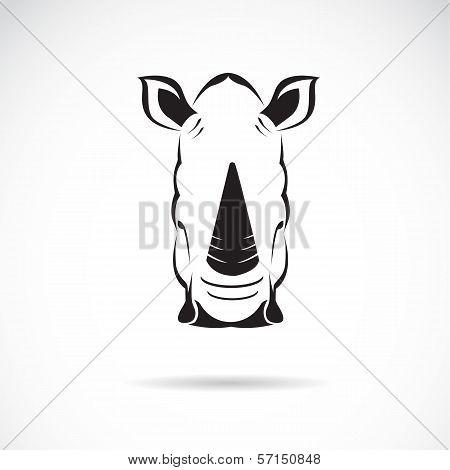 Vector Image Of An Rhinoceros Head