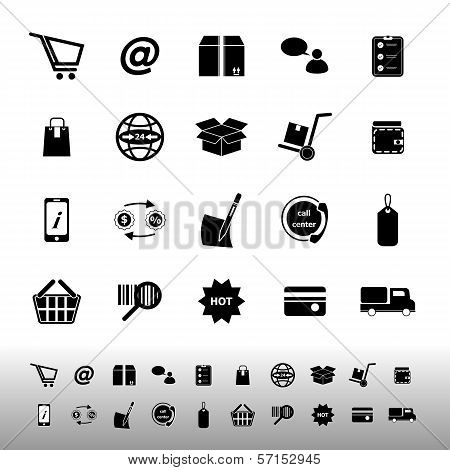Ecommerce Icons On White Background