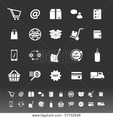 Ecommerce Icons On Gray Background