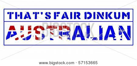 That's Fair Dinkum Australian