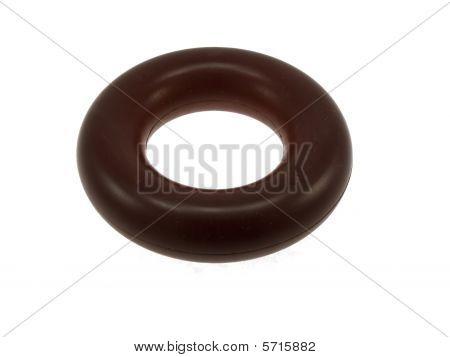 Darkly Red Elastomeric Ring