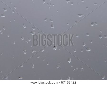 Waqter drops on glass abstract background