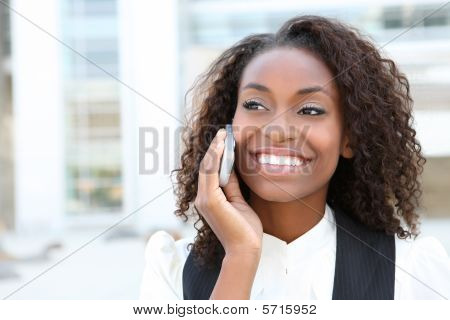 African Business Woman On Phone
