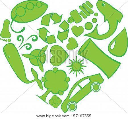 Eco Doodles Heart