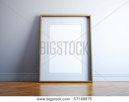 Blank wood picture frame
