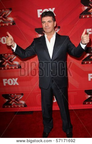 Simon Cowell at The X Factor Season Finale, CBS Television City, Los Angeles, CA 12-22-11