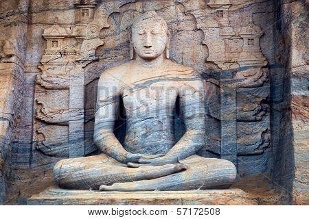 Sitting Buddha In Polonnaruwa