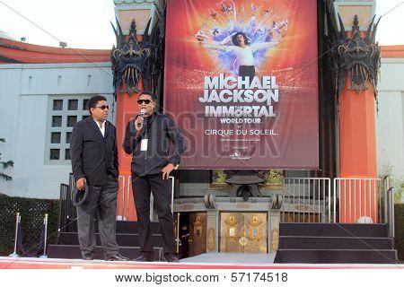 Jackie Jackson, Tito Jackson at Michael Jackson Immortalized at Grauman's Chinese Theatre, Hollywood, CA 01-26-12