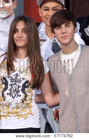 Paris Jackson, Justin Bieber at Michael Jackson Immortalized at Grauman's Chinese Theatre, Hollywood, CA 01-26-12