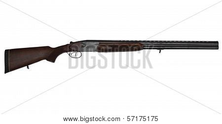 Double-barrelled Hunting Gun Isolated On White