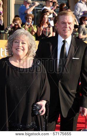 Kathy Bates, Christopher McDonald at the 18th Annual Screen Actors Guild Awards Arrivals, Shrine Auditorium, Los Angeles, CA 01-29-12