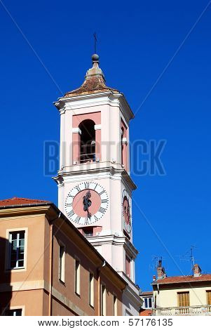 Clock Tower in the Old in Nice